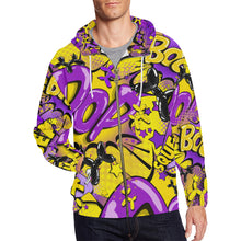 Load image into Gallery viewer, The Lyle BOOM! - Men's Zip Hoodie (3XL-4XL)