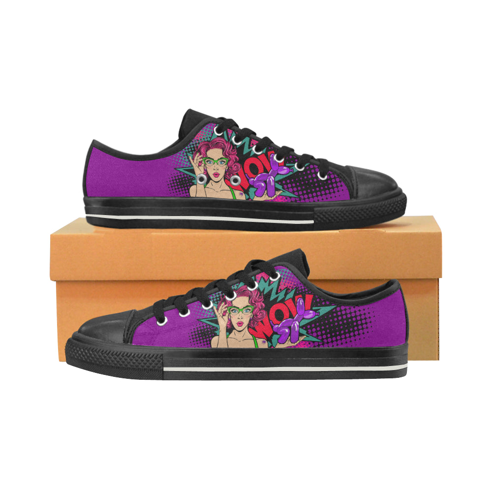 Miss Bonnie Purple - Women's Sully Canvas Shoes (SIZE 11-12)
