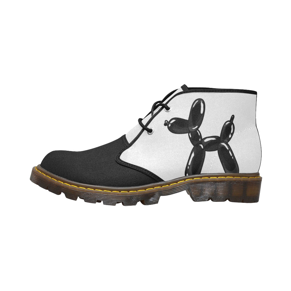 Classic Black and White - Women's Wazza Canvas Boots (SIZE 6-10)