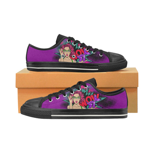 Miss Bonnie Purple - Women's Sully Canvas Shoes (SIZE 6-10)