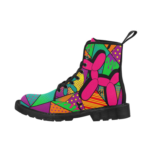 Pop Art Balloon Dog - Women's Ollie Combat Boots (SIZE 6.5-12)