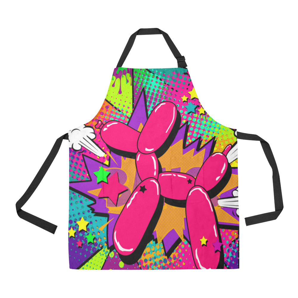Big Pink Balloon Dog - Apron