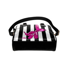 Load image into Gallery viewer, Squatting Dog - Gabi Handbag Pink and White