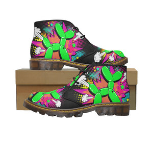 Balloon Dog Explosion - Men's Wazza Canvas Boots (SIZE 7-12)