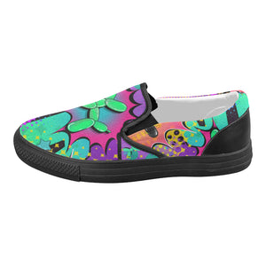 Psychedelic - Canvas Slip-On's (SIZE 6-10)