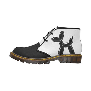 Classic Black And White - Men's Wazza Canvas Boots (SIZE 7-12)
