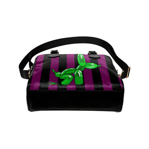 Squatting Dog - Gabi Handbag Purple and Green