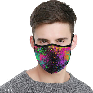 Paint Explosion - Fitted 2 layer face mask with pocket for filter