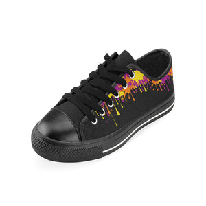 Dripping paint on Black - Men's Sully Canvas Shoe (SIZE 6-12)