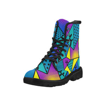 Load image into Gallery viewer, Tropical Smurf - Women's Ollie Combat Boots (SIZE 6.5 - 12)
