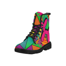 Load image into Gallery viewer, Pop Art Balloon Dog - Women's Ollie Combat Boots (SIZE 6.5-12)
