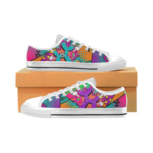 Load image into Gallery viewer, Colour Me Happy - Kids Sully Canvas Shoes