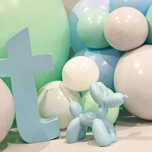 Pastel Blue Balloon Dog Statue