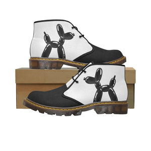 Classic Black and White - Women's Wazza Canvas Boots (SIZE 11-12)