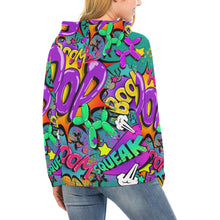 Load image into Gallery viewer, Leaky Squeaky BOOM! on Teal - Women's Classic Hoodie (XS-XL)