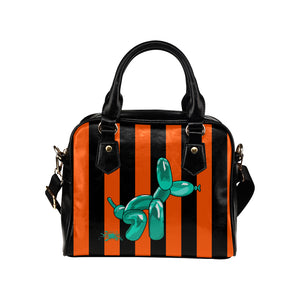 Squatting Dog - Gabi Handbag Orange and Teal