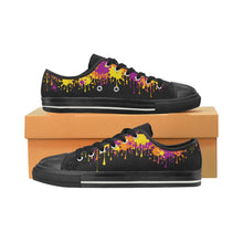 Load image into Gallery viewer, Wet Paint on Black - Women's Sully Canvas Shoe (SIZE 11-12)