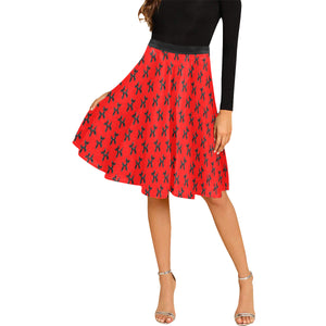 Balloon Dog Mirage on Red - Catie Circle Skirt