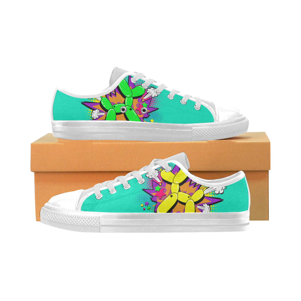 Comic Mermaid Fart - Men's Sully Canvas Shoe (SIZE 6-12)