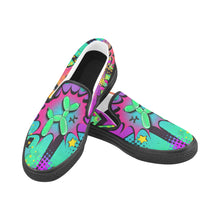 Load image into Gallery viewer, Psychedelic - Canvas Slip-On's (SIZE 6-10)