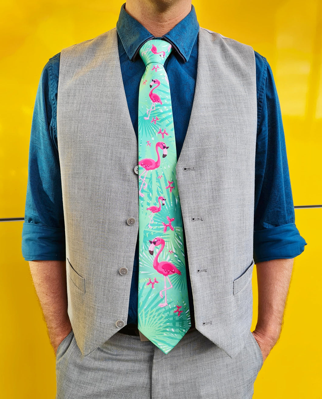 Flamingo Dog - Tie