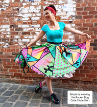 Load image into Gallery viewer, Tropical Smurf - Catie Circle Skirt