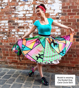 Tropical Smurf - Catie Circle Skirt