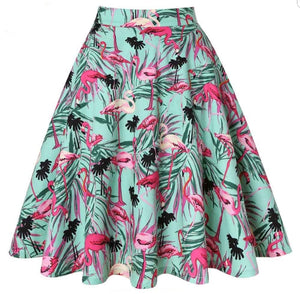 Tropical Green - Juliette Swing Skirt