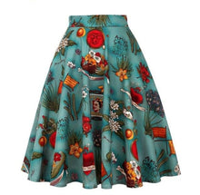 Load image into Gallery viewer, Retro Frida Kahlo - Juliette Swing Skirt