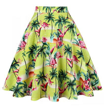 Load image into Gallery viewer, Tropical Flamingo - Juliette Swing Skirt
