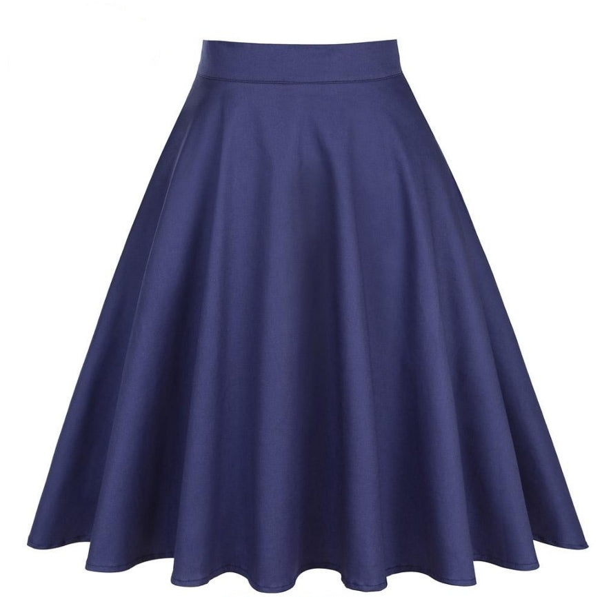 Navy Blue - Juliette Swing Skirt