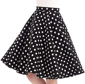 Black with White Polka Dot - Juliette Swing Skirt