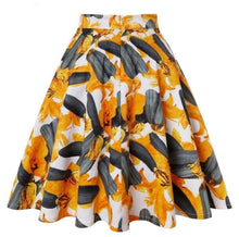 Load image into Gallery viewer, Orange Floral - Juliette Swing Skirt