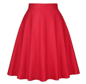 Red - Juliette Swing Skirt