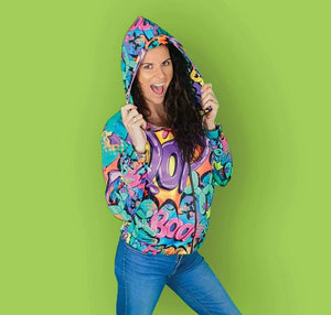 Leaky Squeaky BOOM! on White - Women's Zip Hoodie (XS-2XL)