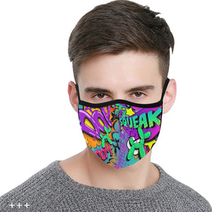 Leaky Squeaky BOOM! - Fitted 2 layer face mask with pocket for filter - Filter Not Included