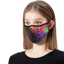 Load image into Gallery viewer, Paint Explosion - Fitted 2 layer face mask with pocket for filter