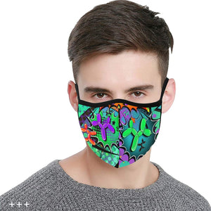 Psychedelic - Fitted 2 layer face mask with pocket for filter - Filter Not Included