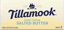 Load image into Gallery viewer, Tillamook Salted Sweet Cream Butter Quarters, 4 Sticks, 16 oz (Packaging May Vary)