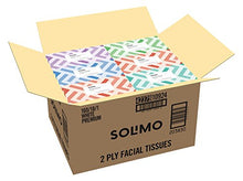 Load image into Gallery viewer, Amazon Brand - Solimo Facial Tissues (18 Flat Boxes), 160 Tissues per Box (2880 Tissues Total)