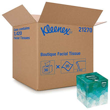 Load image into Gallery viewer, Kleenex Professional Facial Tissue Cube for Business (21270), Upright Face Tissue Box, 36 Boxes / Case, 95 Tissues /Box, 3,420 Tissues / Case