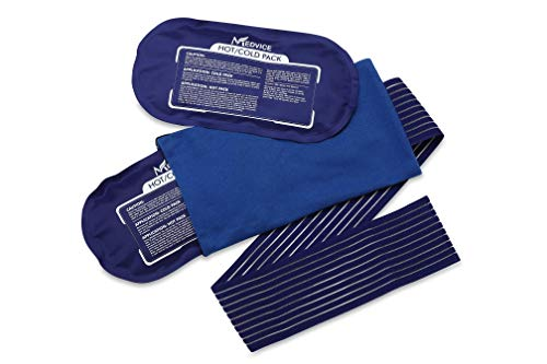 Medvice 2 Reusable Hot and Cold Ice Packs for Injuries, Joint Pain, Muscle Soreness and Body Inflammation, Reusable Gel Wraps - Adjustable for Knees, Back, Shoulders and Legs