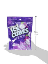 Load image into Gallery viewer, Ice Breakers Ice Cubes Gum, Arctic Grape, Sugar Free with Xylitol, 100 pieces, 8.11 Ounce (1 Bag)