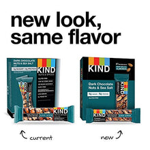 Load image into Gallery viewer, KIND Bars, Dark Chocolate Nuts & Sea Salt, Gluten Free, Low Sugar, 1.4 Ounce, 12 Count