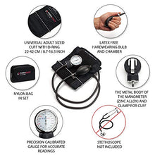 Load image into Gallery viewer, Professional Manual Blood Pressure Cuff – Aneroid Sphygmomanometer with Durable Carrying Case by Paramed – Lifetime Calibration for Accurate Readings – Black