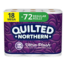 Load image into Gallery viewer, Quilted Northern Ultra Plush Toilet Paper, 3 Ply Bath Tissue, Mega Rolls, 18 Count of 284 Sheets Per Roll