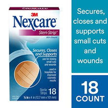 Load image into Gallery viewer, Nexcare Steri-Strip Skin Closure, Breathable, Hypoallergenic, 1/2 Inch x 4 Inch, 18 Count