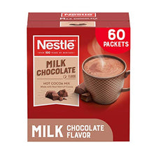 Load image into Gallery viewer, Nestle Hot Chocolate Packets, Milk Chocolate Flavor Hot Cocoa Mix, Made with Real Cocoa, 0.71 oz Sachets, Bulk Pack (60 Count)