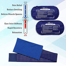 Load image into Gallery viewer, Medvice 2 Reusable Hot and Cold Ice Packs for Injuries, Joint Pain, Muscle Soreness and Body Inflammation, Reusable Gel Wraps - Adjustable for Knees, Back, Shoulders and Legs