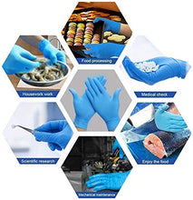 Load image into Gallery viewer, Medical Nitrile Gloves, YOUYA DENTAL 100 Pcs Nitrile Disposable Gloves Powder Free Rubber Latex Free Disposable Medical Exam Gloves Non Sterile Ambidextrous Comfortable Industrial Blue Rubber Gloves M